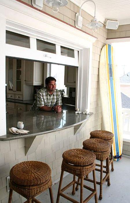 Пляжное патио с барной стойкой | BBQ and Grill zone