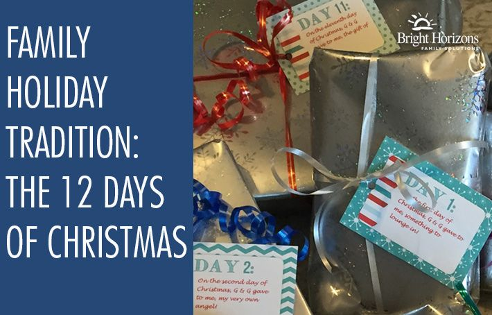 Family Holiday Tradition: The 12 Days of Christmas - If you're doing a gift a day, we have great gift ideas for children and grandchildren.