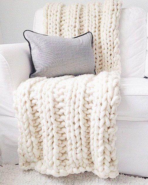 Chunky knit blanket hand knitted with Loopy Mango Super Chunky wool chunky knit throw throw blanket wool throw wool blanket