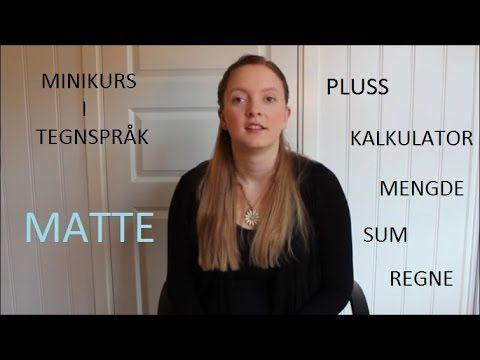 Minikurs i tegnspråk: matte (#39)