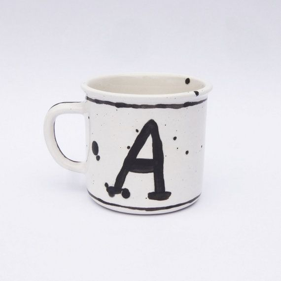 Calligraphy mug, Handletter custom mug