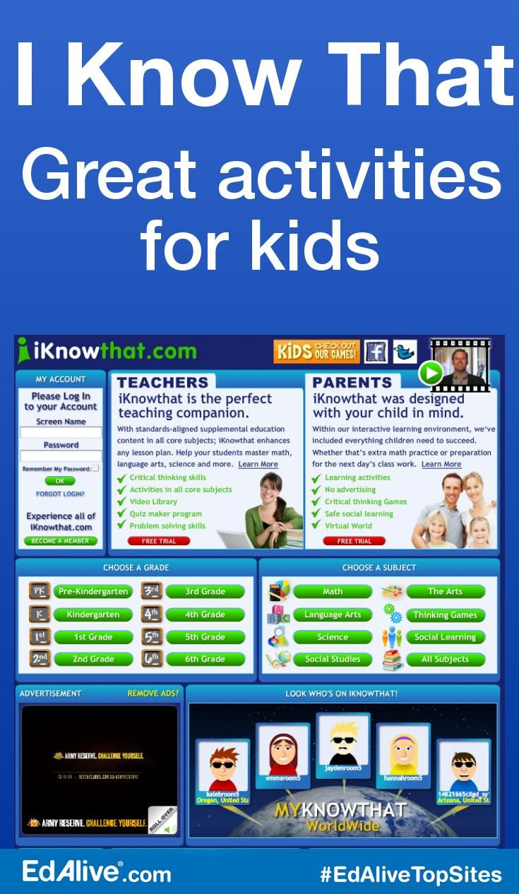 Great activities for kids | Offers web-based educational activities for kids ages 2-12. Activities include sticker books, simulation games, painting, math and phonics. #CrossCurricular #EdAliveTopSites