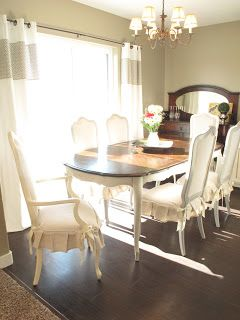 Little Miss Penny Wenny: How to Transform a Dining Room Set. I'm sure I'll need some of these tips in the future. I've always dreamed of having an elegant, outside dinner party!