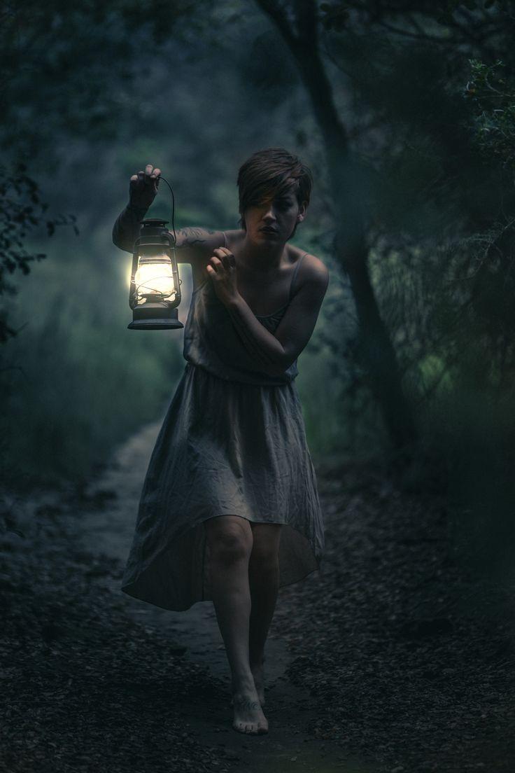 Scary Dark Place Dark Forest by Jeff Do...