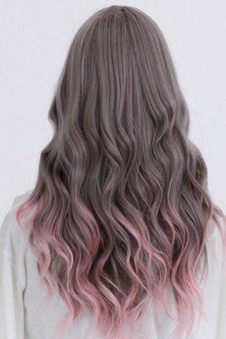 Wenn braunen Haaren ein kühler Ton verpasst wird, passen Pastellfarben klasse dazu! Rose Grey Balayage Ombre Pastel Tinked