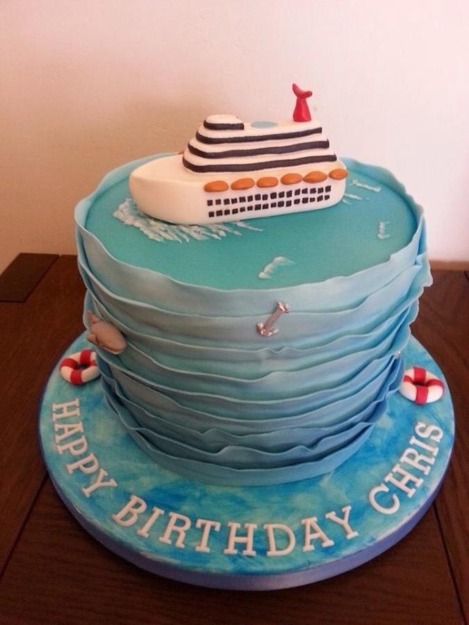 De Bästa Ship Fondant Cakebilderna På Pinterest - Cruise ship cake