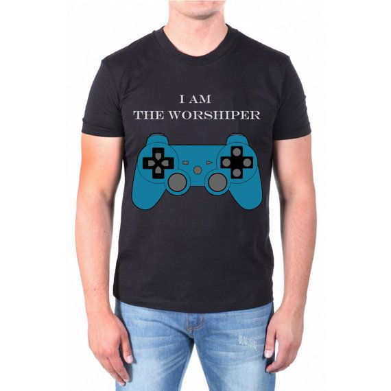 I am the worshiper game for men t shirt  size by NewGalaxy on Etsy, $19.00