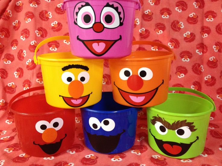 Not Your Normal Steam - Sesame Street Favors. I love the take and toss cups♡♡♡♡♡