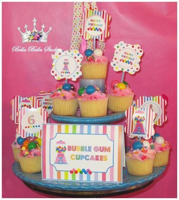 Bubble Gum Party By Bella Bella Studios #bubblegum #party Bubble Gum  Inspiration By Bella