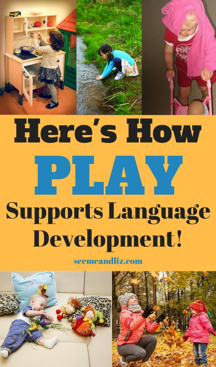 Play activities are an essential part of language development for children. Click to learn how language and vocabulary develop through play! #parentingtips #pretendplay #learningthroughplay