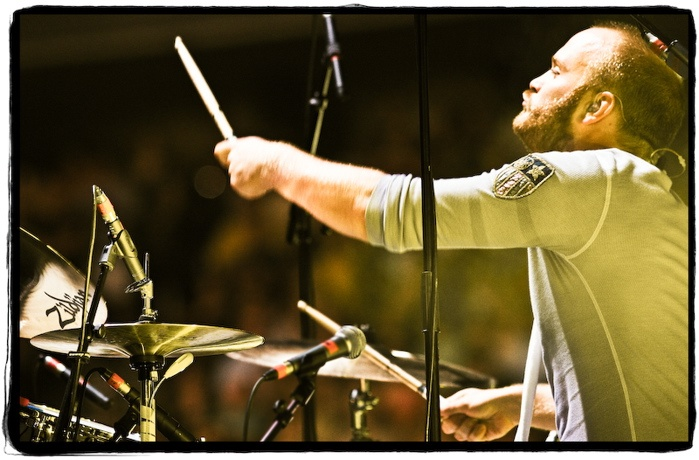Will Champion of Coldplay. I love his face!