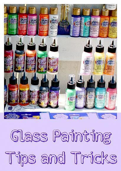 170 best images about paint on glass on pinterest glass for Glass painting tips and tricks