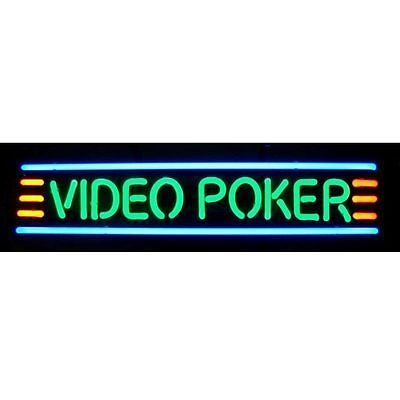 Posters and Signs 75190: Video Poker Neon Sign 5Video W/ Free Shipping -> BUY IT NOW ONLY: $324 on eBay!