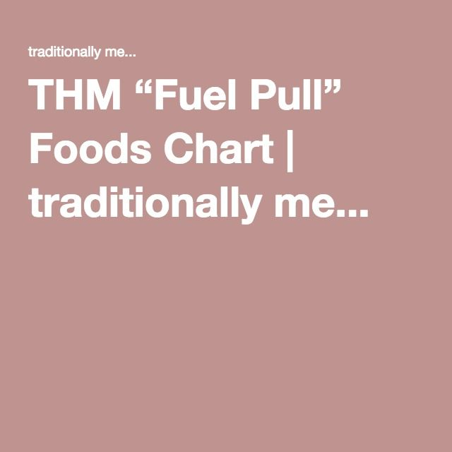 """THM """"Fuel Pull"""" Foods Chart 