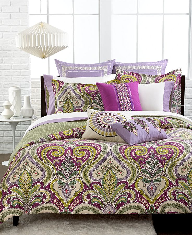 Echo Vineyard Paisley Comforter and Duvet Cover Sets - Bedding Collections - Bed & Bath - Macy's