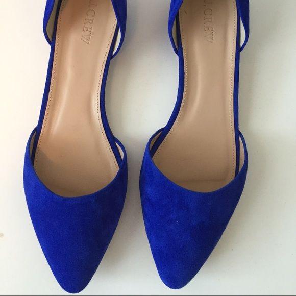 J. Crew women's blue suede flats Brand new, never worn blue side j.crew flats J. Crew Shoes Flats & Loafers