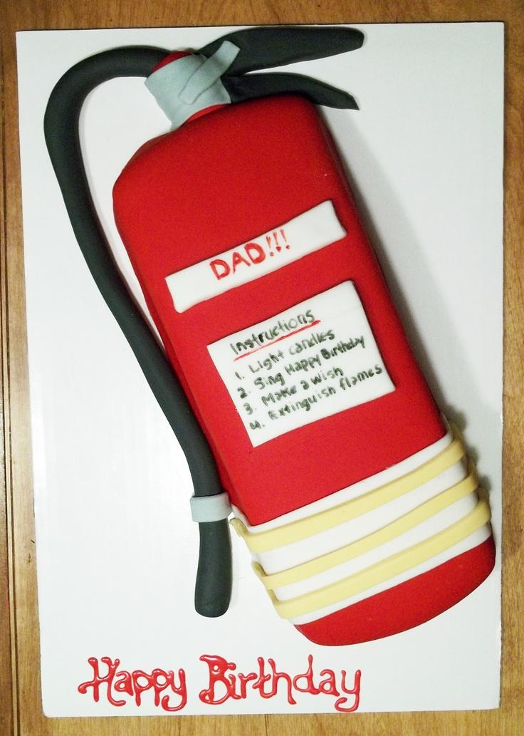 Fire Extinguisher Cake
