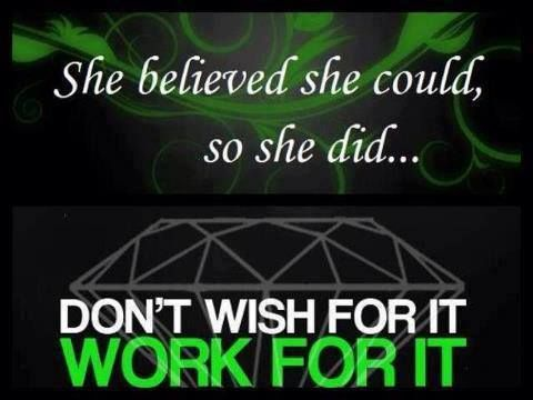 She believed she could so she did triple diamond for It works global photos
