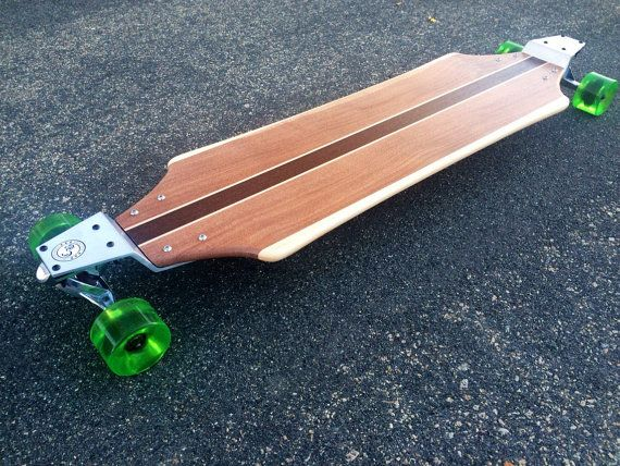 Longboard With Drop Plates   Solid Wood   Banzai