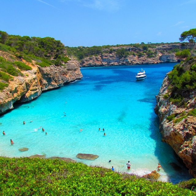 Calo des Moro Beach, Spain.  Go to www.YourTravelVideos.com or just click on photo for home videos and much more on sites like this.