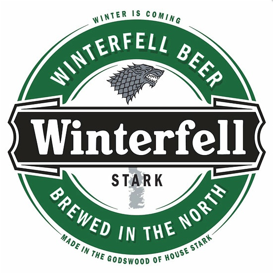 Game of Thrones inspired beer labels  Winterfell