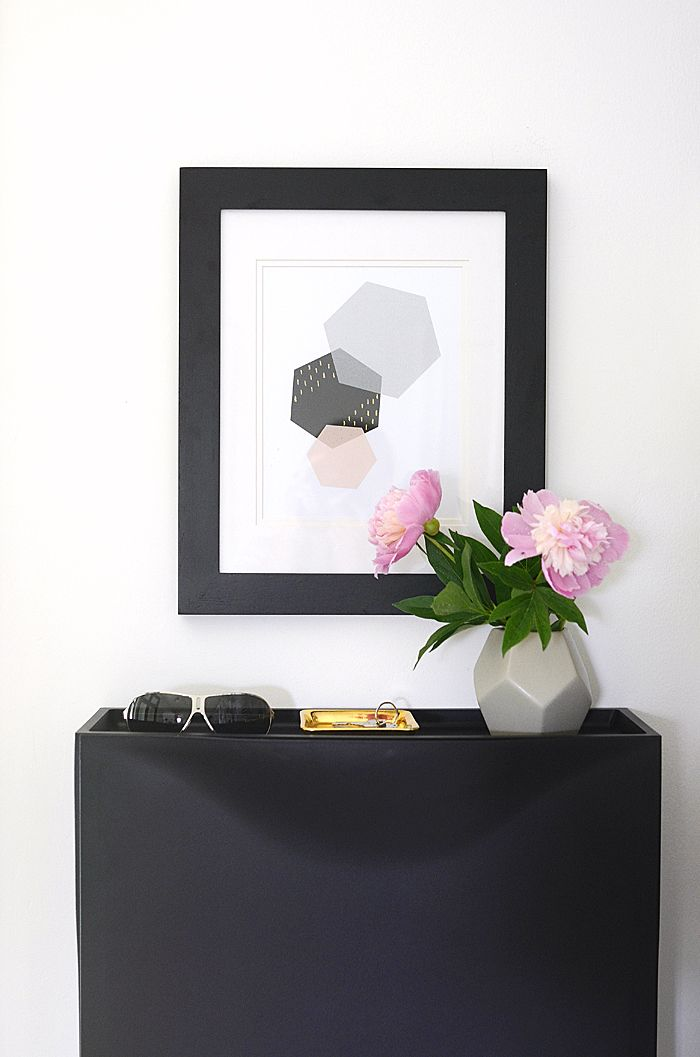 Modern Hexagon Art - Free Printable