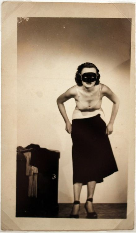 UNKNOWN MASKED LADY CAUGHT UNDRESSING | UNKOWN PHOTOGRAPHER |