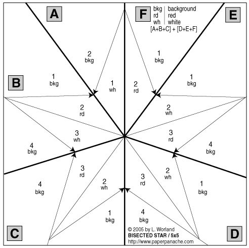 free paper piecing patterns | Paper Panache--Free Paper-Pieced Bisected 5-Pointed Star Pattern