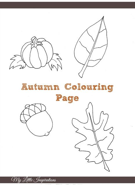 My Little Inspirations: {Autumn Colouring Page}