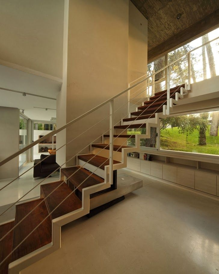 World of Architecture: Modern Vacation House in Cariló, Argentina | #worldofarchi #architecture #modern #house #home #stairs