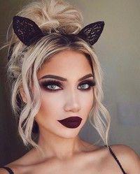 Women Girls Black wire Bunny Costume Party Rabbit Hair Ear lace Bow Headband