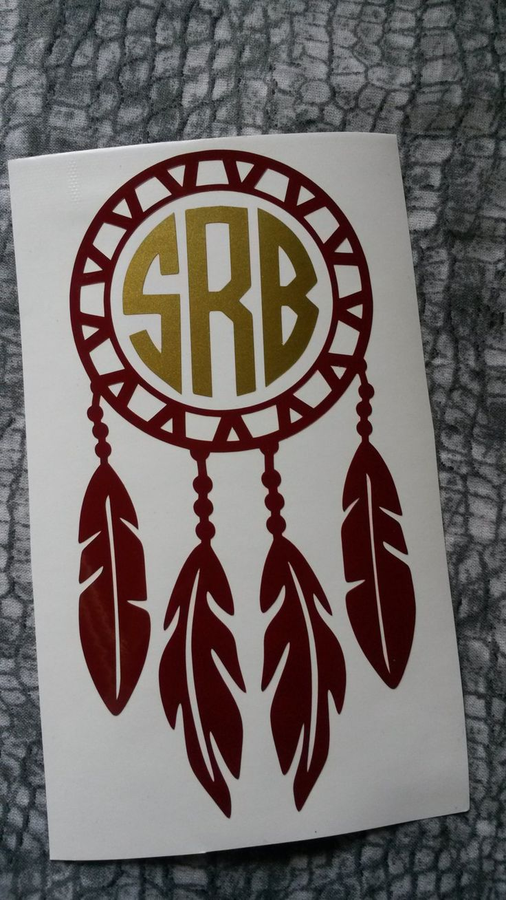 Dream Catcher Monogram | Dream Catcher Vinyl Decal | Monogram | Decal | Glitter | Dream | Gift | Feather |Car decal by SouthernBroadDecals on Etsy