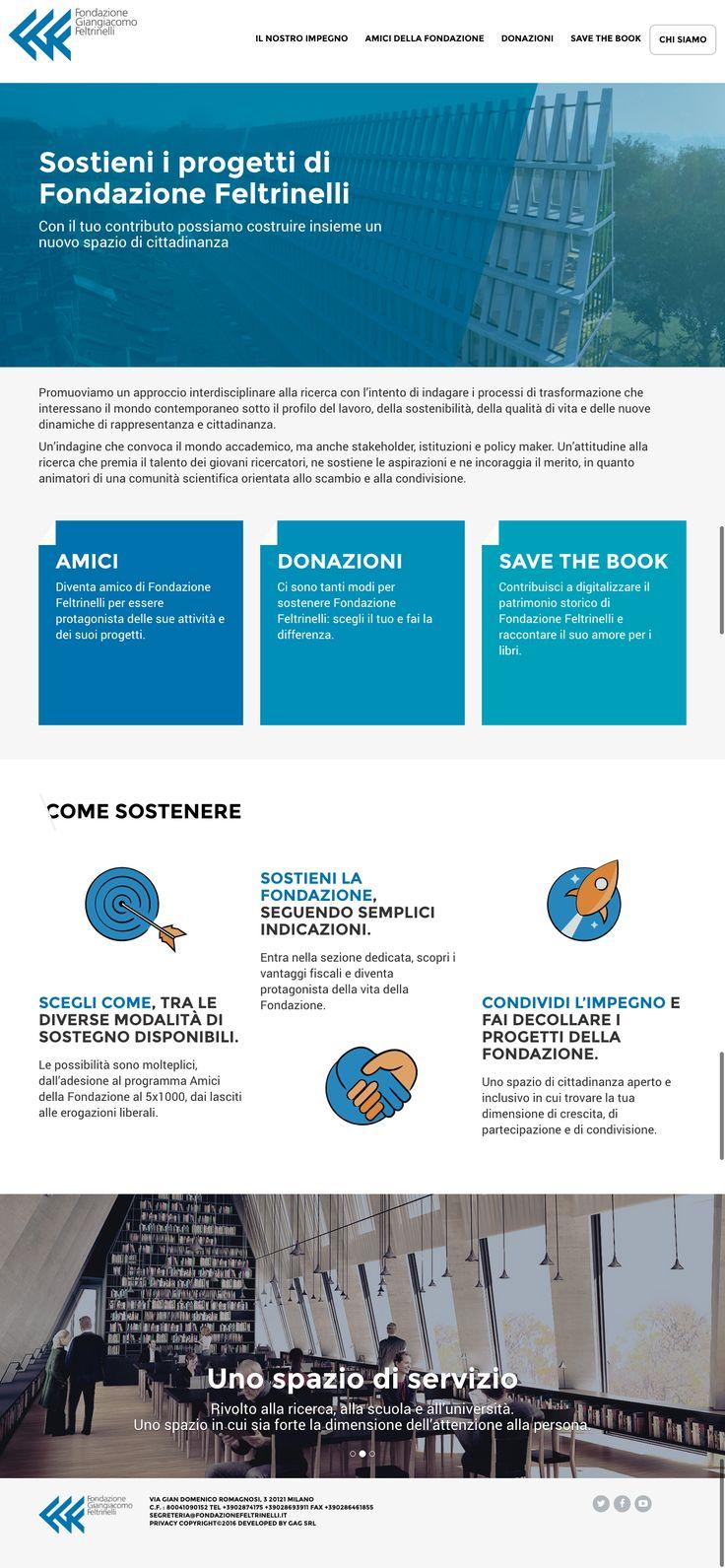"""Scopri come sostenere Fondazione Giangiacomo Feltrinelli, diventa """"Amico della Fondazione"""" e contribuisci a far crescere le sue attività culturali."""