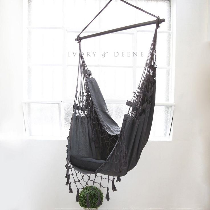 kids hanging chair for bedroom%0A Hammock Chair  Charcoal Provincial   Provincial  Charcoal