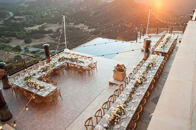 malibu reception with a gorgeous view