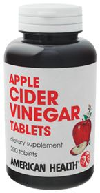 Apple Cider Vinegar by American Health Products - Buy Apple Cider Vinegar (600 MG) 200 Tablets at the Vitamin Shoppe