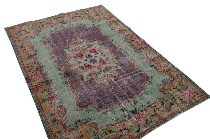 vintage vloerkleed uit Turkije 276cm x 180cm no2896   Rozenkelim.nl - Groot assortiment kelim tapijten