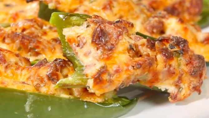 Get The Recipe: Sausage Stuffed Jalapeno Poppers