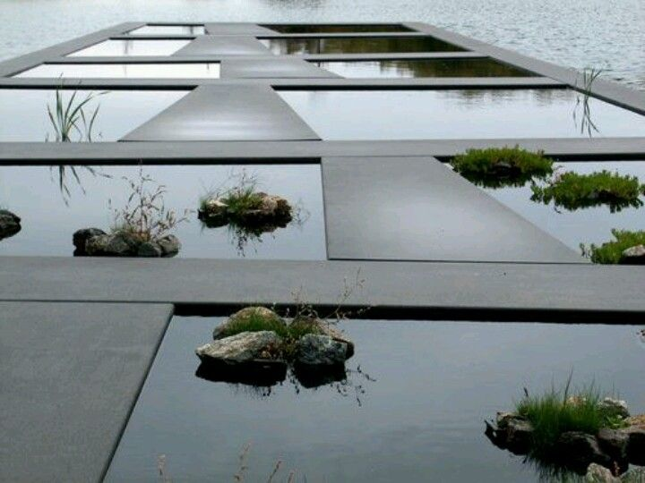 Composicion en espejos de agua arquitectura pinterest for Paysagiste jardin moderne