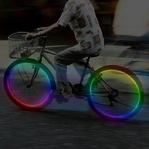 RAINBOW MULTI LED Bike Wheel Lights For Bikes, Cars And Motorcycles Too