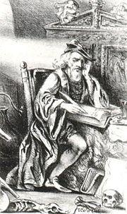 Nicolas Flamel :  en alchimiste dans le portrait romantique de la Galerie historique des Célébrités populaires (1840)