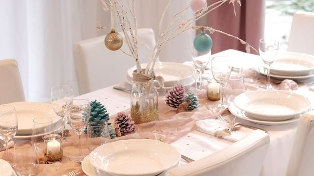 Decoration de table de noel pas cher
