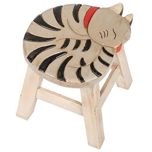 This stool is designed and handmade individually by skilled artisans. It is made of the highest quality acacia hardwood so it will last for years to come. It is hand carved and painted. It weighs 7 lbs and measures approximately 18 x 16 x 16 inches. AzonAuthority - Done For You Power Builder... more details available at https://furniture.bestselleroutlets.com/children-furniture/chairs-seats/stools/product-review-for-gray-tabby-cat-design-hand-carved-acacia-hardwood-decorative