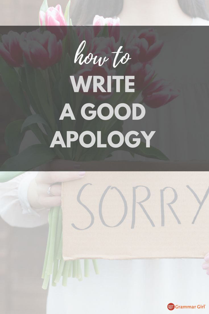 How to Write an Apology and Avoid