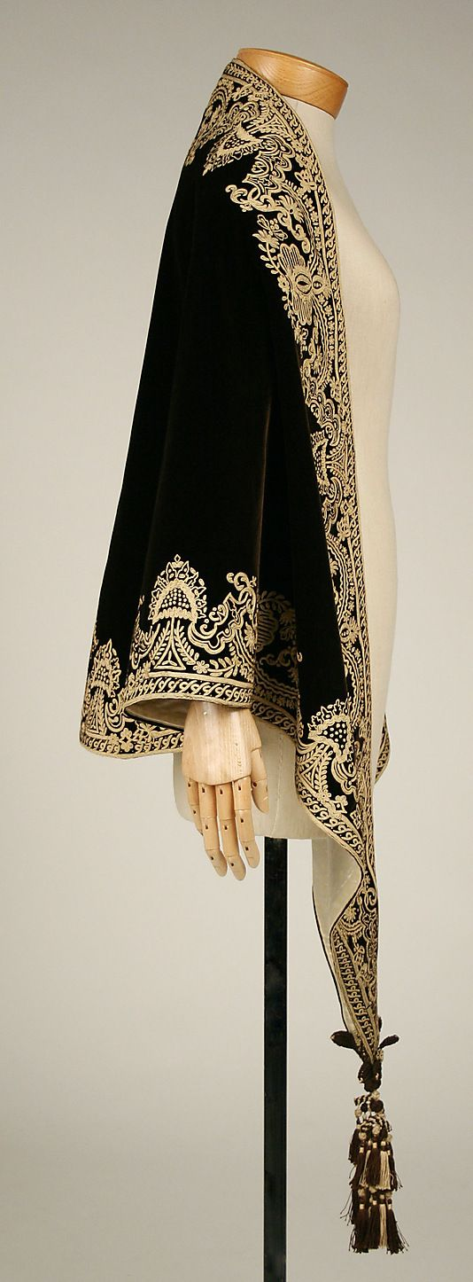 1857-1860 Mantle silk American The Met.  Beautiful!!!