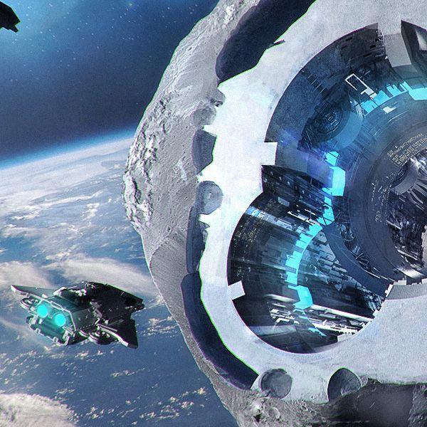 futuristic donut space station - photo #5