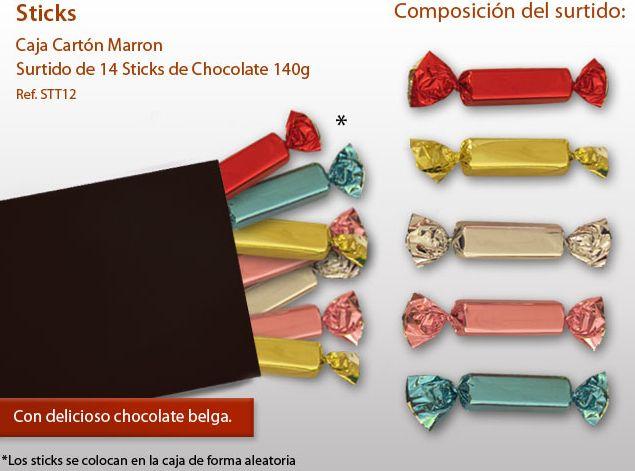¡Pruebe nuestros Sticks de chocolate belga!