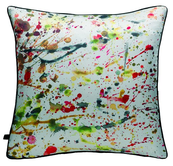 Drip and splatter designs are digitally and screen printed onto cushions, rugs and table runners. Add colour and visual interest to an interior with these easy updates from Habitat