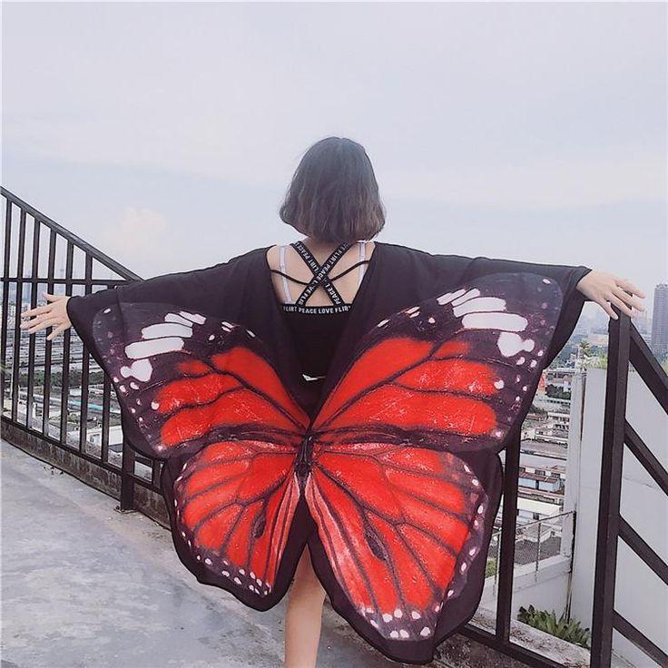 Japanese Harajuku wind butterfly thin cloak SD00520 – SYNDROME - Cute Kawaii Harajuku Street Fashion Store