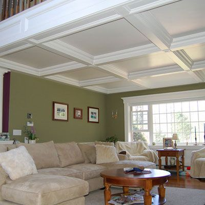 Family Room Gets A Coffered Ceiling Millie Robertson